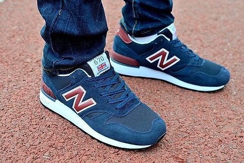 New balance 670 темно-синие