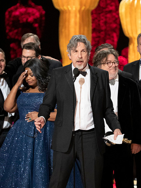 This year's Oscar winner, Peter Farrelly...and legendary award-winning producer/director, and editor Kris Meyer.