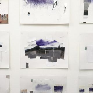 """""""horitzó: déchirer, coller"""", série de collages, format raisin"""
