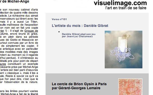 sur le site [verso-hebdo] un dossier sur ce que je fais avec un texte de Jean Luc Chalumeau