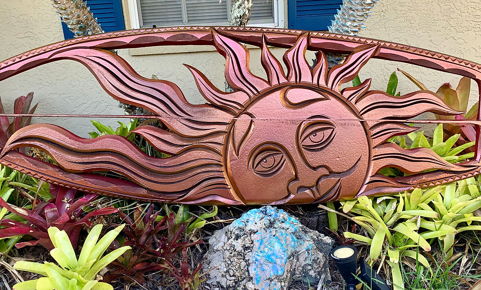 """SUN KING"" reclaimed surfboard carving"