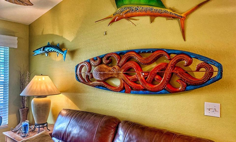 """Sea Legs"" reclaimed surfboard carving"