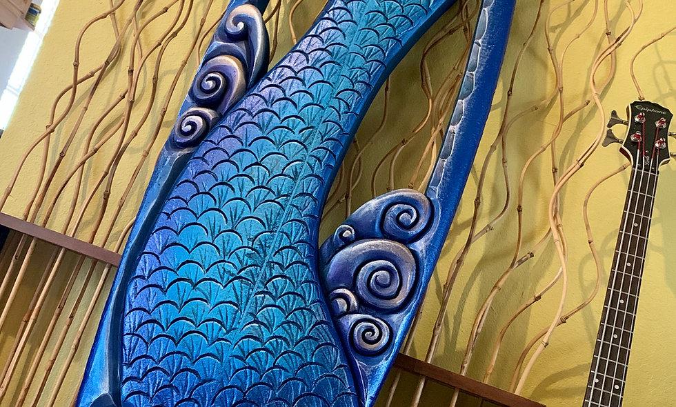 """Sailor's Dream"" reclaimed Mermaid surfboard carving"