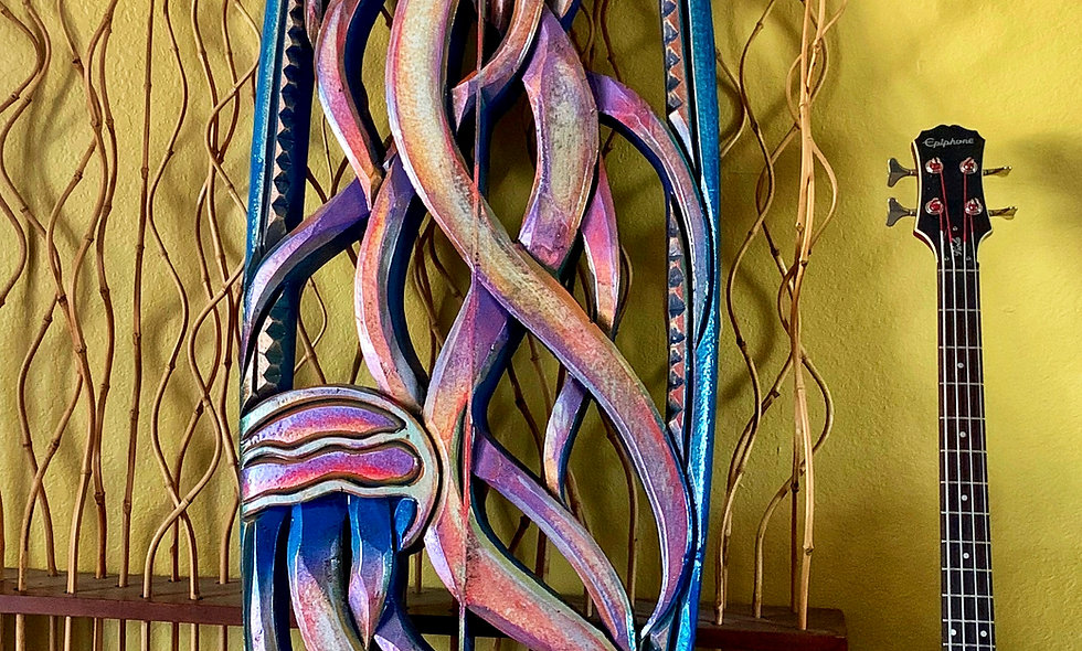 """""""Dance of the Jellyfish"""" reclaimed surfboard carving"""