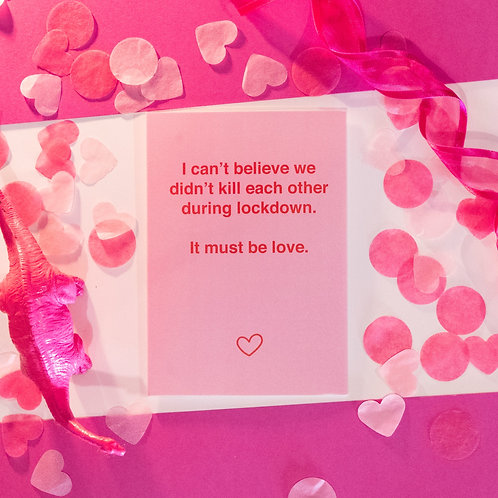 Funny COVID Anniversary card | It Must Be Love