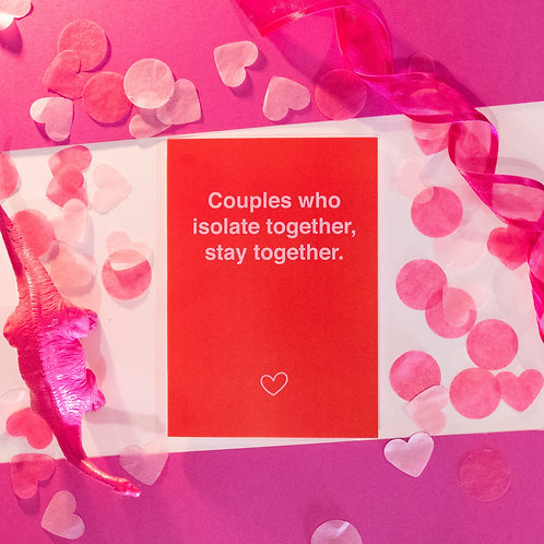Funny COVID Anniversary card | Isolate Together