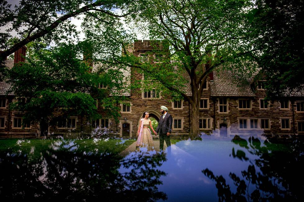 Princeton Indian wedding portraits