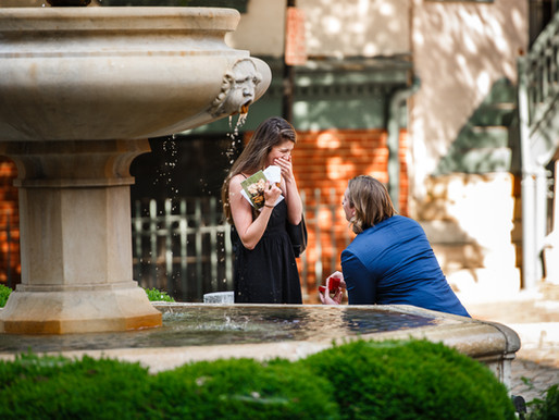 Surprise proposal at the Martin Agency in downtown Richmond