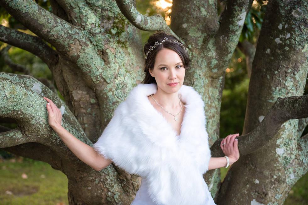 Richmond wedding photographers | Marek K. Photography | Beautiful natural light bridal portrait at Belle Isle State Park