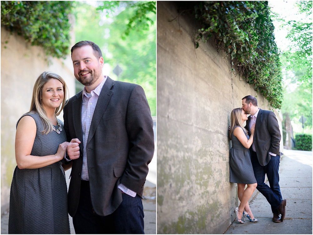 engagement session in shockoe richmond