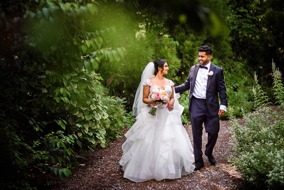 brookside gardens wedding portraits