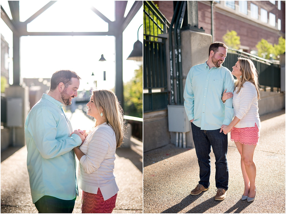 canal walk engagement photos