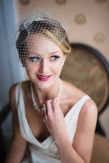 Richmond wedding photography   Marek K. Photography   Bridal portrait with window light at Linden Row Inn.