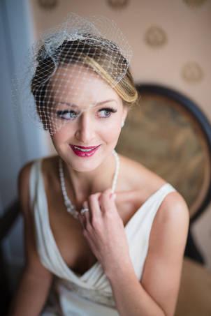 Richmond wedding photography | Marek K. Photography | Bridal portrait with window light at Linden Row Inn.