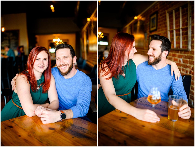 Richmond VA engagement session photo of a couple smiling