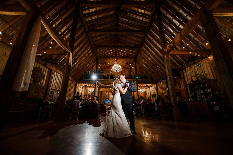 Bride and father first dance at Fairview Farms taken by  Richmond Wedding Photographer Marek K. Photography.