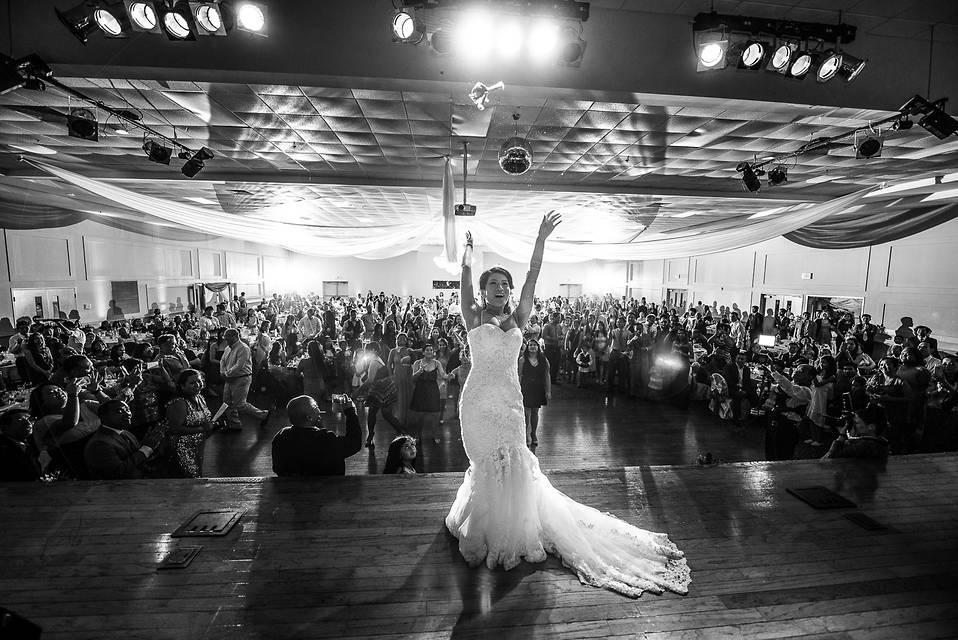 RVA wedding photographers   Marek K. Photography   Cambodian wedding bouquet toss