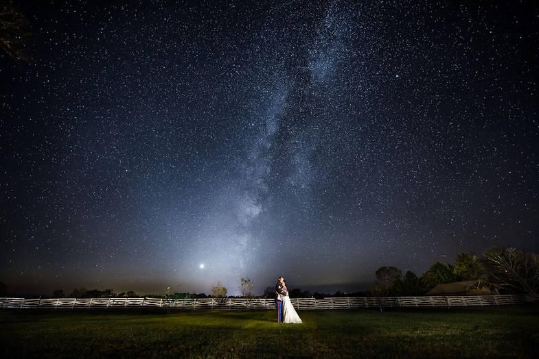Richmond wedding photographers   Marek K. Photography   amazing wedding photo with the milky way.