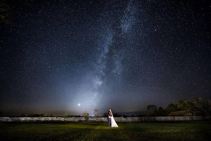 Richmond wedding photographers | Marek K. Photography | amazing wedding photo with the milky way.