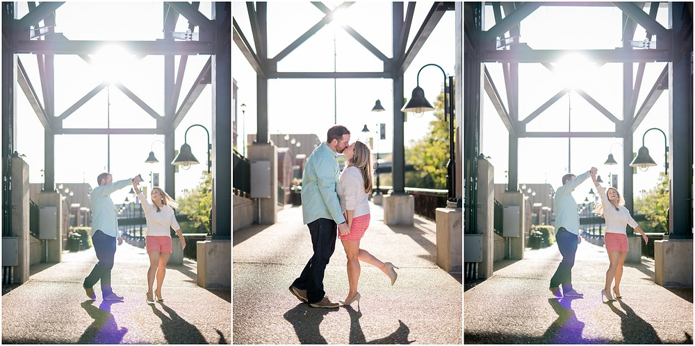 couple dancing engagement photos