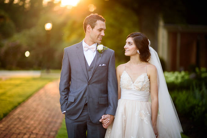 Richmond wedding photographer | Marek K. Photography | Bride and groom during sunset with Nikon 85mm 1.4g.