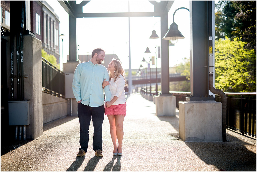 canal walk engagement pics