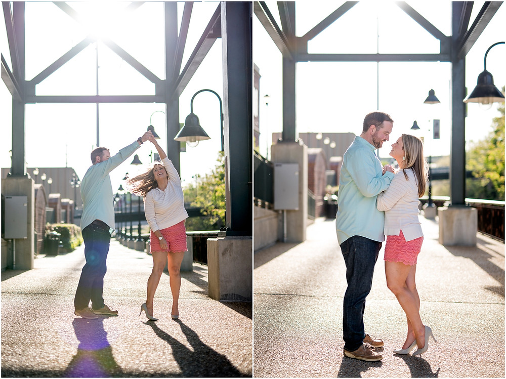 sunny day engagement