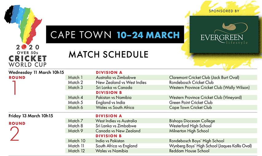 Match Schedule 1