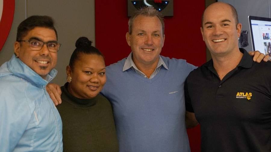 Dave Callaghan with the Algoa FM team