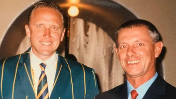 Lennie Louw with Allan Donald