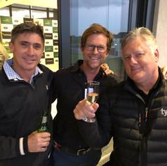 Alan Dawson, Jonty Rhodes and Brian McMillan