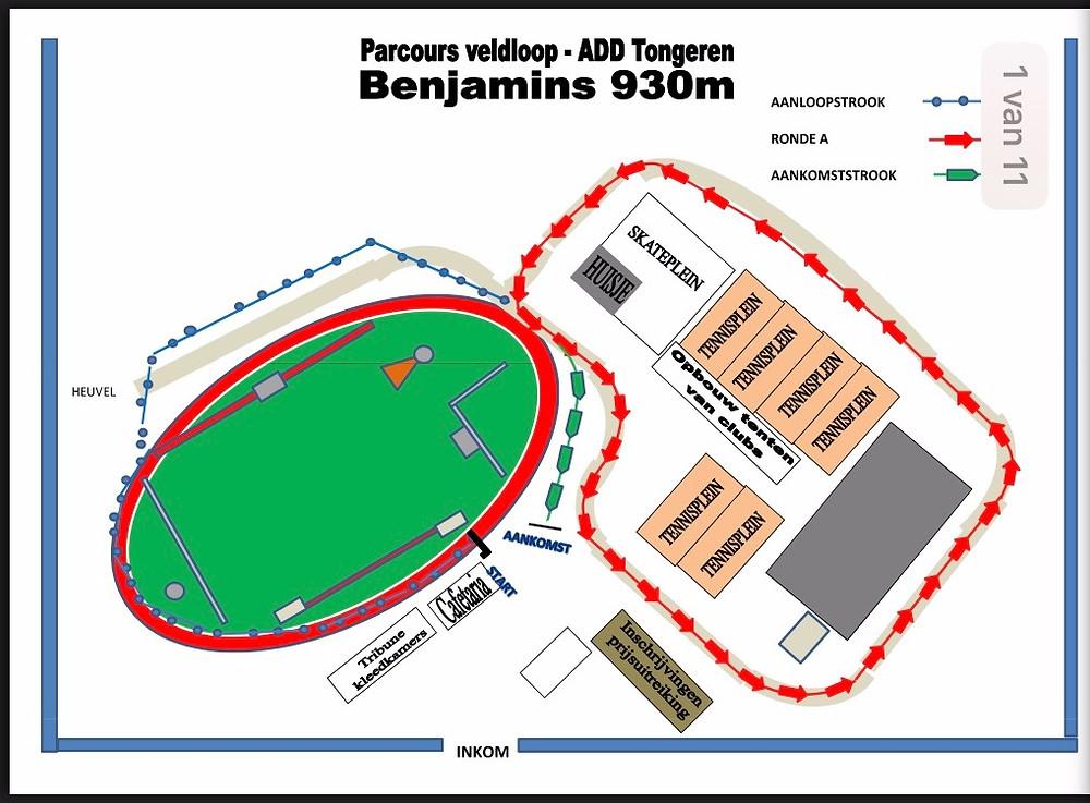 Parcours LCC ADD Tongeren | ADD Kortessem Atletiek