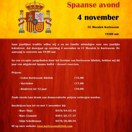 Ledenfeest - Spaanse Avond