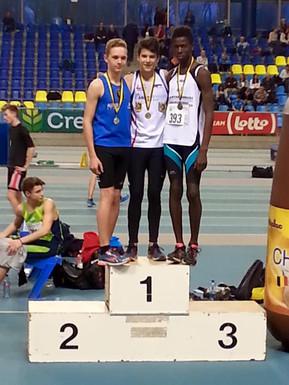Greg Reynders en Aude Scheldeman brons op Vlaams Kampioenschap indoor