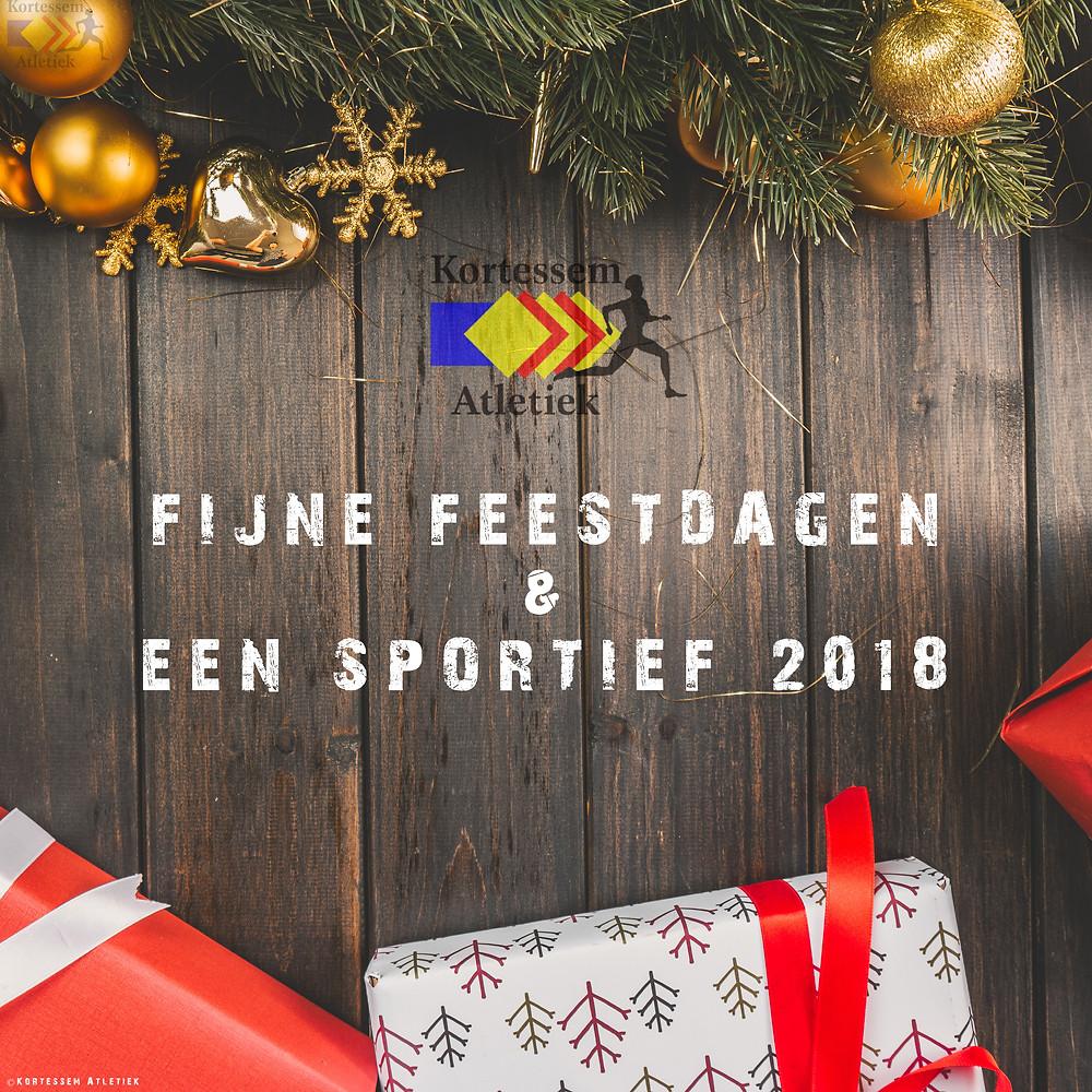 Fijne feestdagen en een sportief 2018