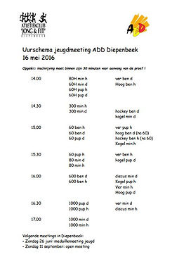 Jeugdmeeting ADD Diepenbeek
