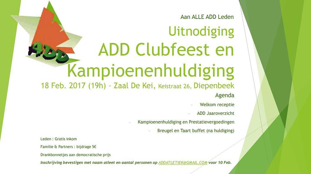 Uitnodiging ADD 18 02 2017   Kortessem Atletiek