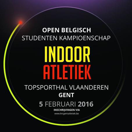 Camille Lubon op Belgisch Kampioenschap voor Studenten Indoor