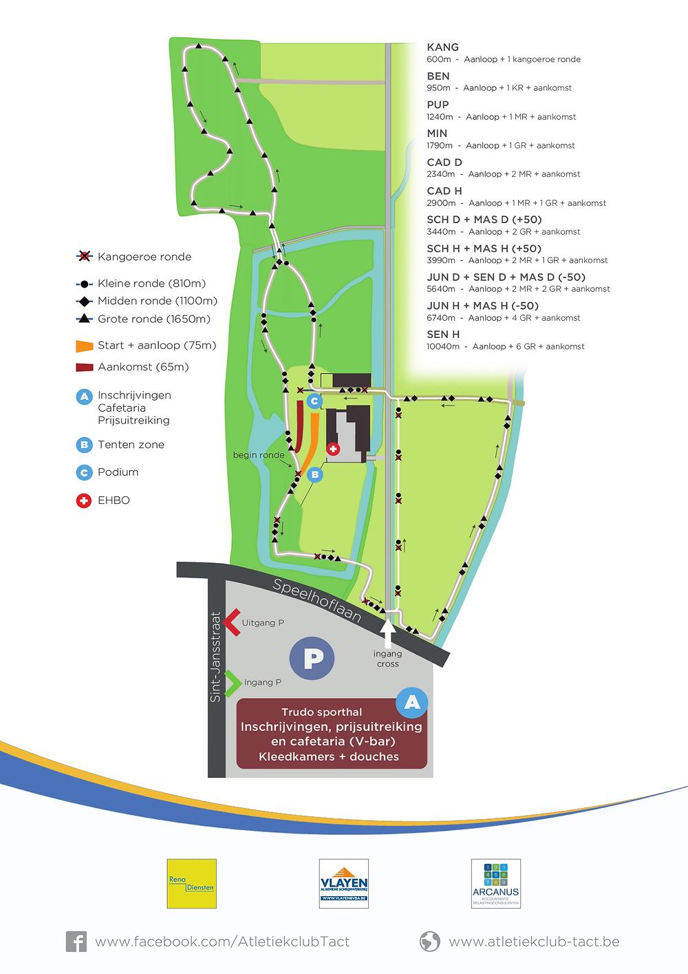 Parcours LCC Cross TACT Sint-Truiden 27/01/2019 | ADD Kortessem Atletiek