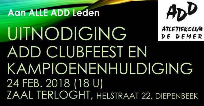 ADD Clubfeest & Kampioenenhuldiging