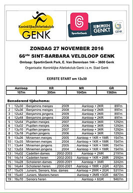 LCC Genk 27 november