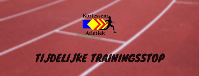Tijdelijke trainingsstop