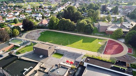 Luchtfoto Atletiekpiste Hoeselt - Ter Kommen