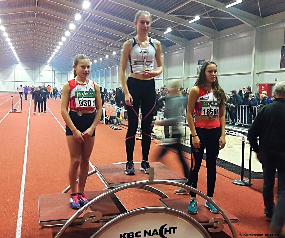 Anissa Berings 1ste op PK Indoor in Heusden