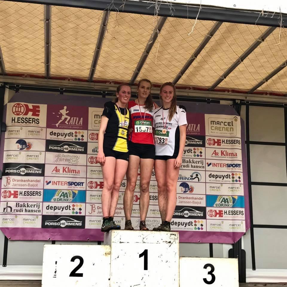 Lotte Scheldeman podium PK Lanaken   Kortessem Atletiek