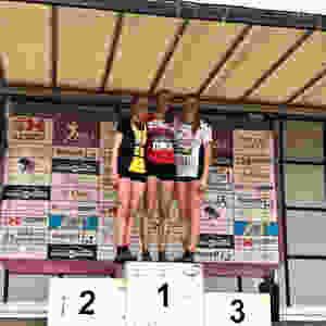 Lotte Scheldeman podium PK Lanaken | Kortessem Atletiek