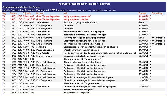 Lessenrooster cursus initiator Tongeren