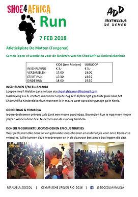 Shoe4AfrikaRunwoensdag 07 februari 2018