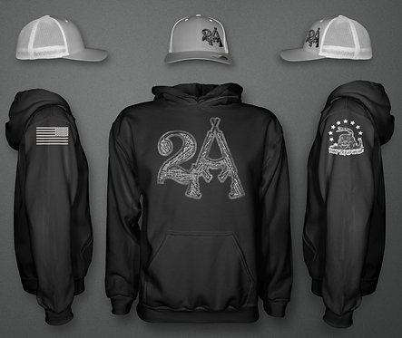2A Patriotic Hoodie and Hat COMBO