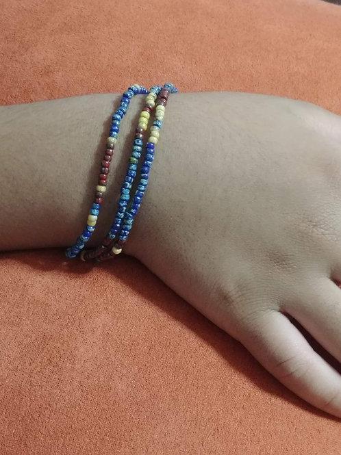 Minimalist Picasso Bead Stretch Bracelets